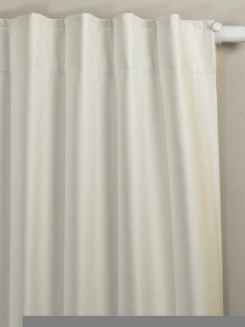 Cortinas Black Out Blanco-Natural