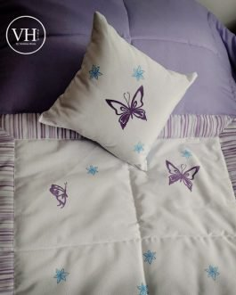 Acolchados Infantiles Verónica Home Con Mariposas