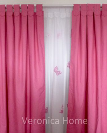 blackout fuxia +voiles estampado