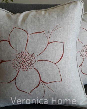 almohadones de Lino estampado