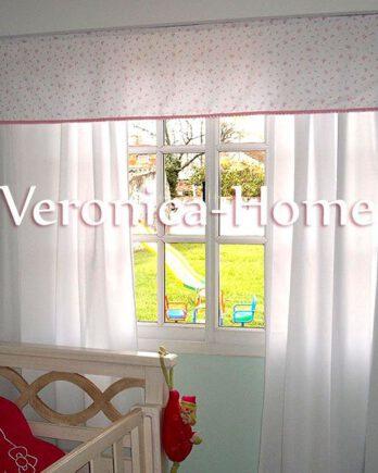 Cortina de Voiles+Faldón Velcrado+perfil velcrado para techo+riel hasta 2.20mts
