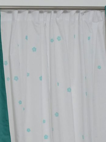 Cortinado Doble de Voile Estampado y Black Out Aqua