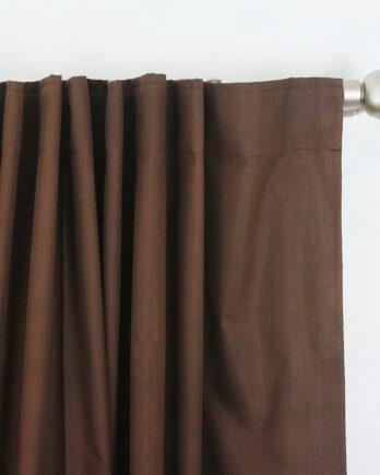 Cortinas Black Out Marrón – Oscurece 100 % – Para Ventanas sin Persianas