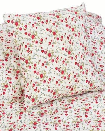 Acolchado con Flores hecho en Gabardina de algodón