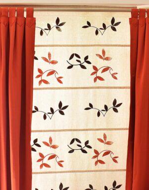 Cortinas romanas de lino estampado