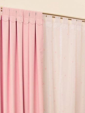 Cortinas Black Out Rosa Pastel