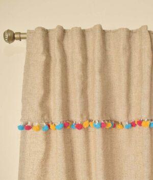 cortinas de lino con puntilla