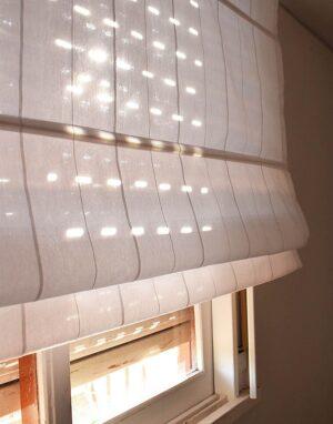 cortinas romanas de voile